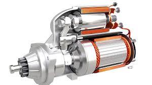 starter motor diagram showing the internal construction