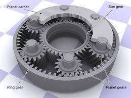 planetary starter motor gear arrangement