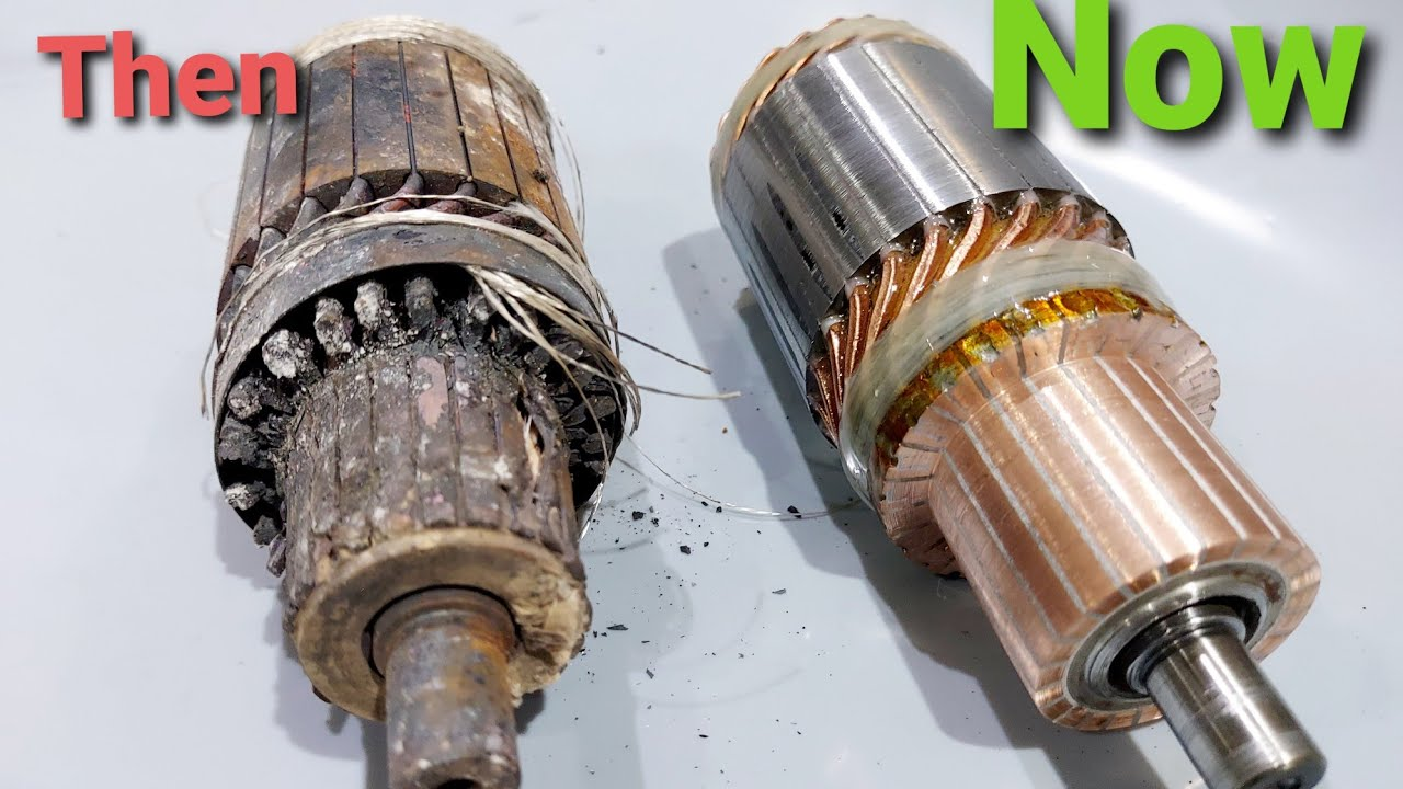 a reconditioned starter motor armature