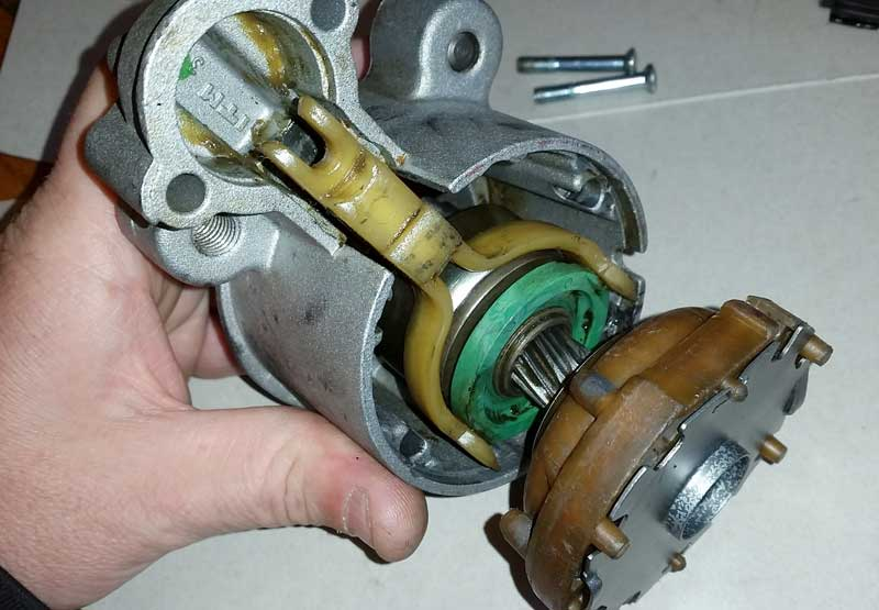 the starter motor lever is the forked part