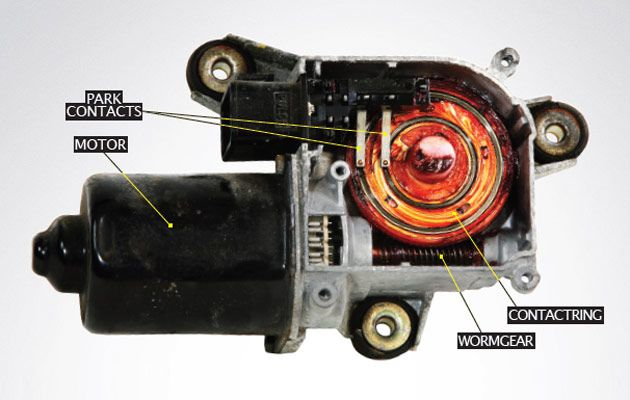 wiper motor and transmission assembly