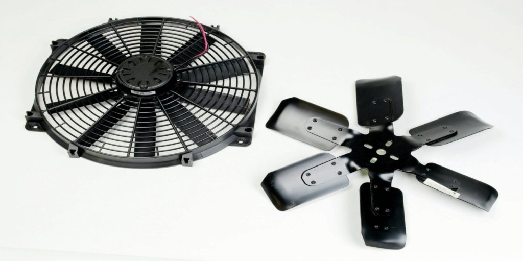 design differences between electric and mechanical radiator fan