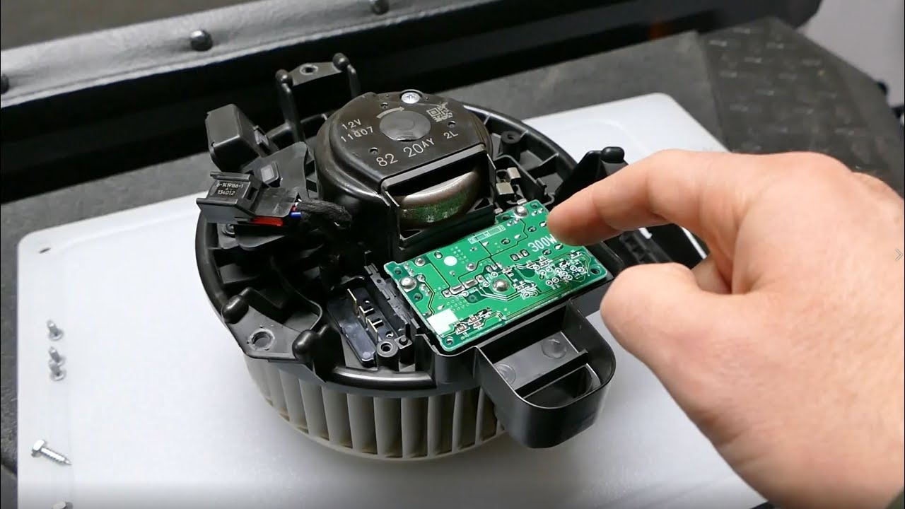 the car AC blower motor can be brushless
