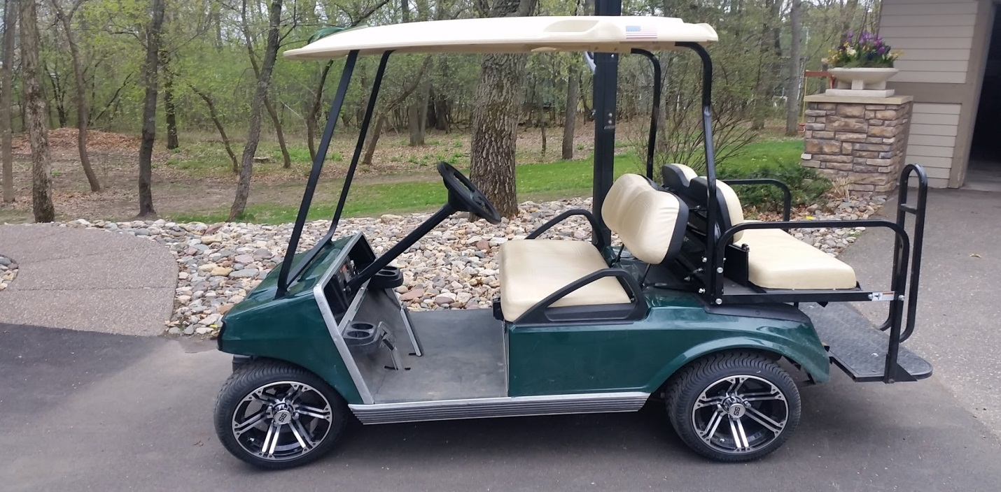 a brushless DC motor golf car performs well in many situations