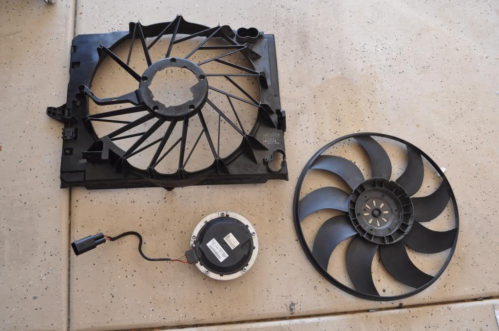 radiator fan disassembled for repair